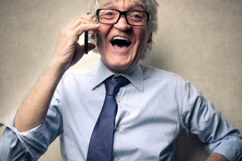 Les Seniors et le téléphone portable